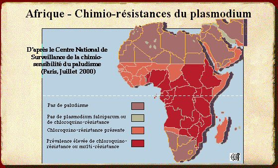 Carte-paludisme-Afrique
