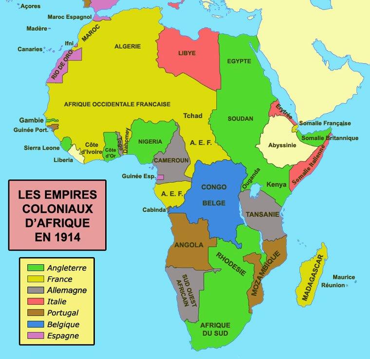 Etats-Unis d'Afrique de l'Ouest et Grand Maghreb Empires-coloniaux-Afrique-1